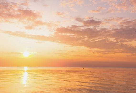 Sunset over beautiful ocean