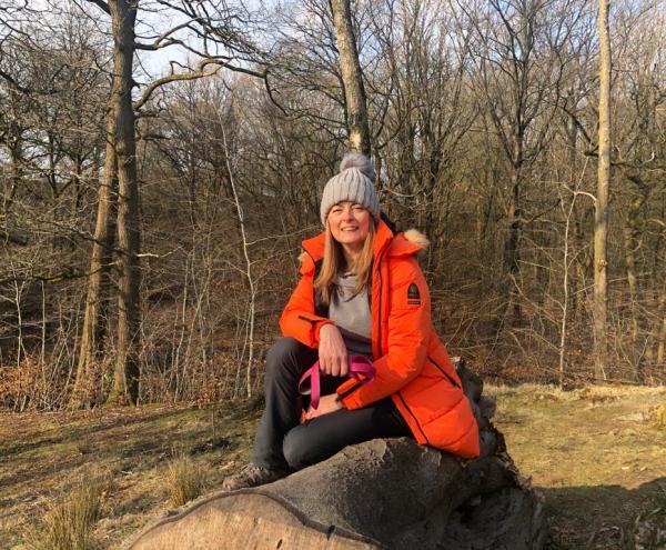 Caron Iley near a forest
